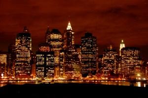 Photo of New York's skyline at night